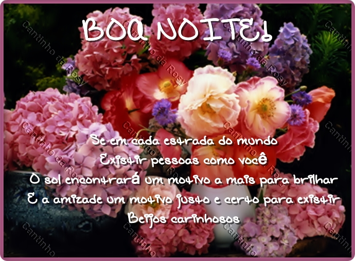 Flores / Boa Noite